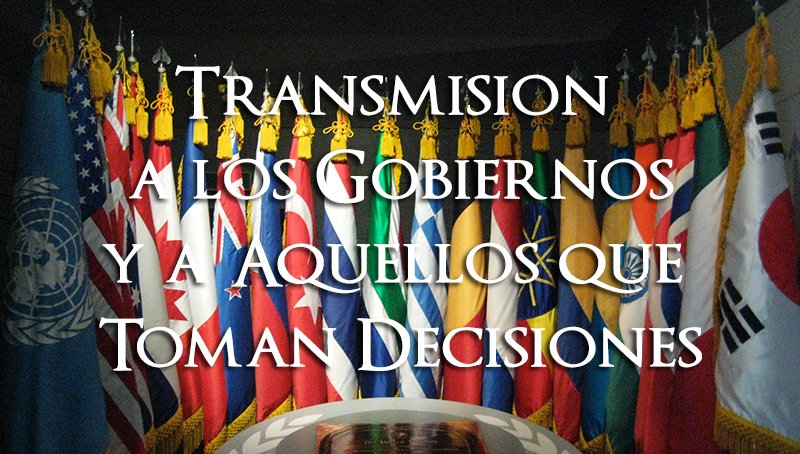5 sep 2012 Transmisión a todos los gobiernos
