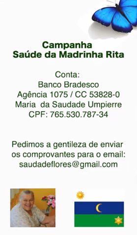 campanha madrinha Rita