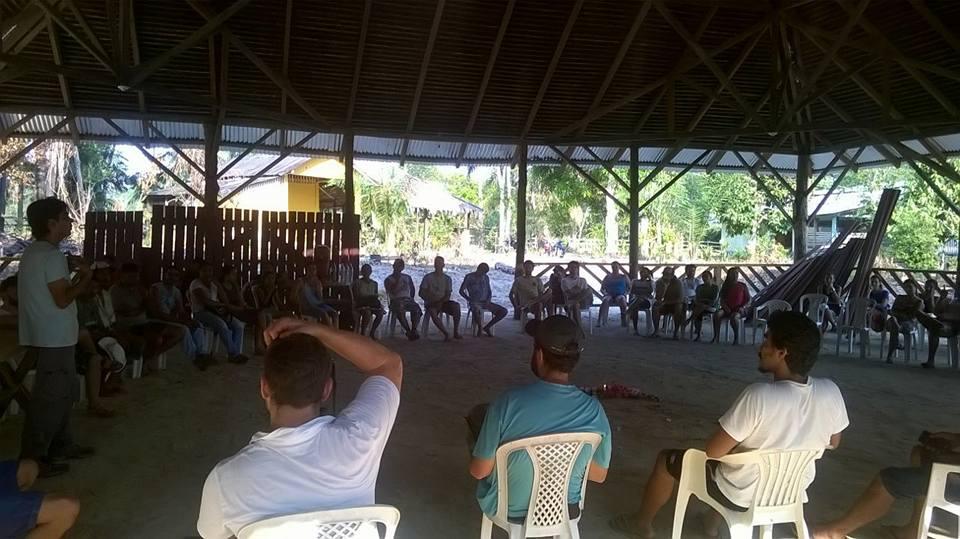 Aquecendo tambores - céu do Mapiá - setembro 2017